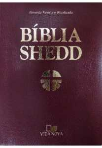 Bíblia Shedd - Luxo - covertex bordô - Vida Nova