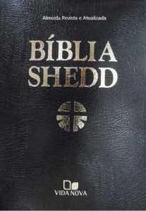 Bíblia Shedd - Luxo - covertex preta - Vida Nova