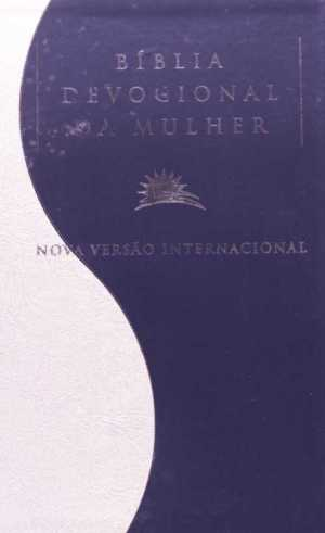Bíblia NVI Devocional da Mulher - Pérola com Azul Marinho