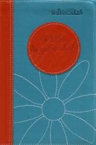 A Bíblia da Garota de Fe Ntlh - Laranja E Azul