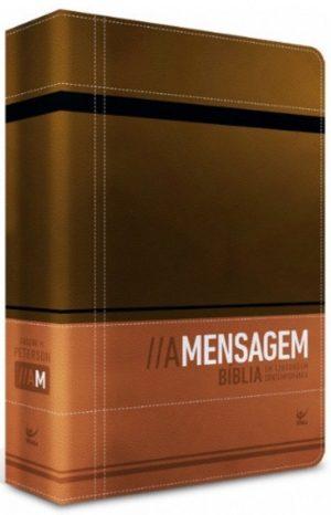 Bíblia A mensagem -Luxo marrom e café