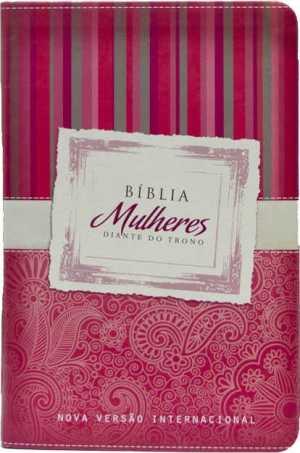 Bíblia Mulheres Diante Do Trono -Vermelha Listras
