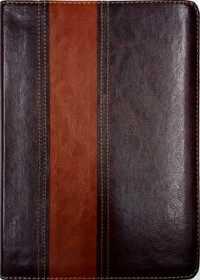 b03e0777869 Bíblia Thompson – Média – Couro Marrom Escuro e Claro