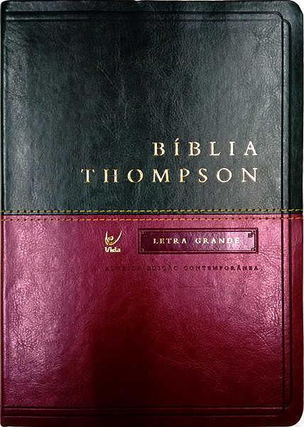 04c60702192 Bíblia Thompson - AEC - Letra Grande - Verde e Vinho