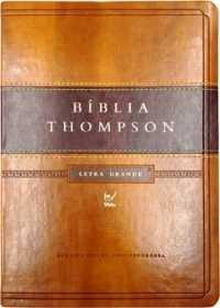 7673f90c55d Bíblia Thompson – AEC – Letra Grande – Marrom Claro e Escuro. Preço  R 200  ...