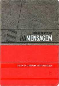 Bíblia de Estudo A Mensagem - Vermelho e cinza