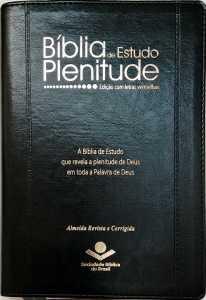 Bíblia de Estudo Plenitude Letras vermelhas
