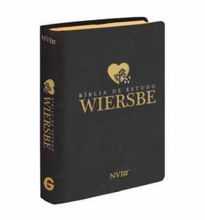 Bíblia de Estudo Wiersbe - Luxo Preta