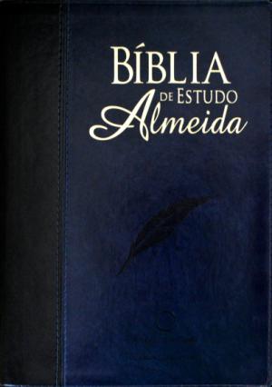 Bíblia de Estudo Almeida RA - Preto e Azul - Sbb
