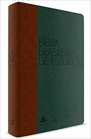 Bíblia Brasileira de estudo - Marrom e verde - Hagnos