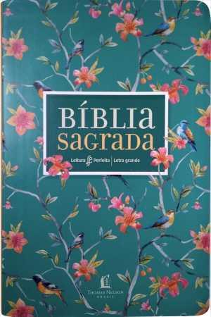 Bíblia Azul Floral NVI - Leitura Perfeita