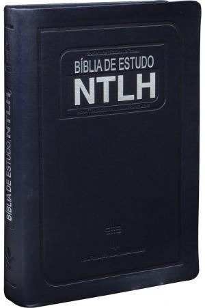 Bíblia de Estudo NTLH - Média Azul Escovado