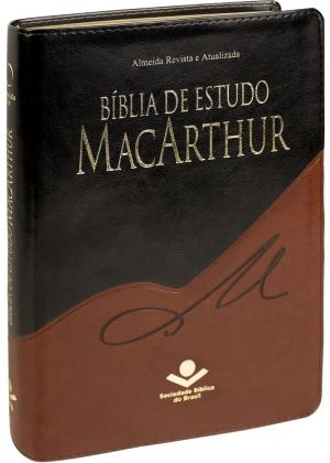 Bíblia de Estudo MacArthur - Preta e Marrom - SBB