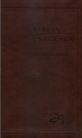 Bíblia Almeida Século 21 - Marrom Café - Letra Grande