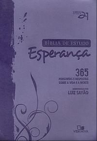 Bíblia de estudo Esperança - Lilás