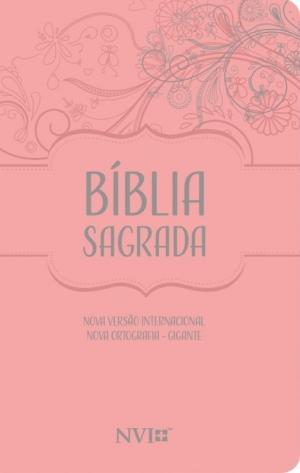 Bíblia Sagrada NVI - Nova Ortografia - Semi Luxo Nude