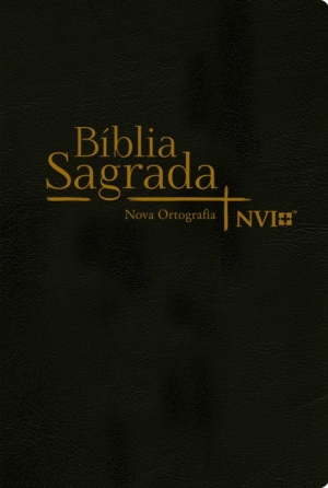 Bíblia Sagrada NVI - Nova Ortografia - Semi Luxo Preta