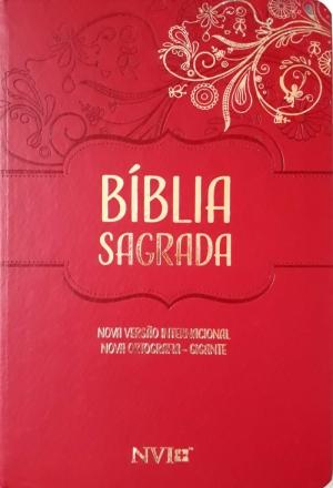Bíblia Sagrada NVI - Nova Ortografia - Semi Luxo Vermelha