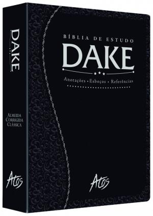 Bíblia de Estudo Dake - Preta Trabalhada