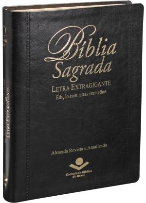 Bíblia Sagrada Letra Extragigante RA - Luxo Preta