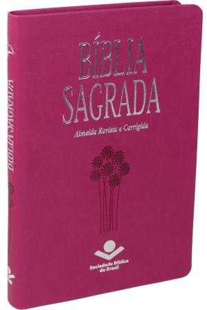 Bíblia Sagrada RC - Média Rosa/Slim