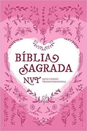 Bíblia Sagrada NVT - Capa dura - Coração rosa