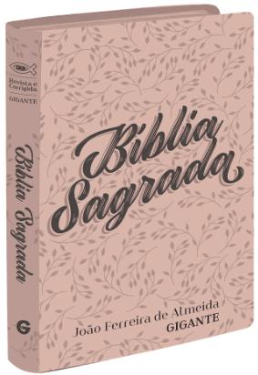 Bíblia Sagrada RC - Letra Gigante - semi luxo floral