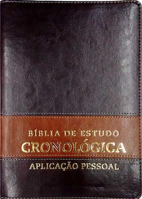 Bíblia de estudo cronológica Aplicação Pessoal - Marrom e Marrom Escuro