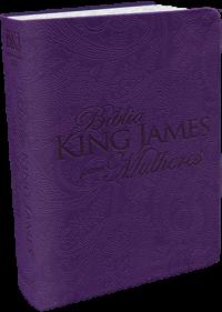 Bíblia king james para mulheres - Roxa