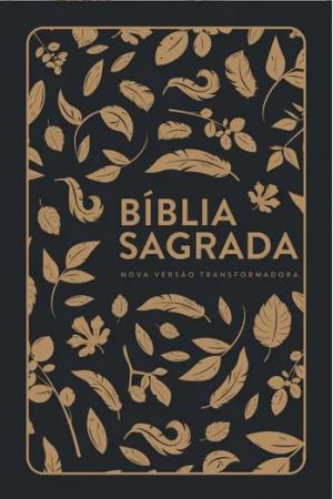 Bíblia Sagrada NVT - Folhas Douradas - Letra Grande-Capa Flex - Mundo Cristão