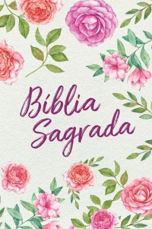 Bíblia Sagrada NVT - Textura floral - Letra Grande- Capa flex