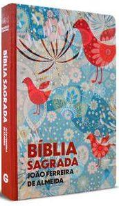 Bíblia sagrada RC - Semi luxo - Estampada Pássaro - Geografica